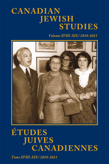 View Vol 18-19 (2010-2011): Special Double Issue: Yiddish in Canada